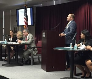 Criminal Defense attorney Matthews Bark presenting a legal education course for assistant state attorneys